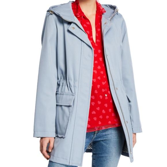 NWOT Kate Spade Scalloped Pocket Trench Coat Blue